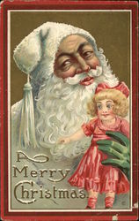 A Merry Christmas - Santa with Doll