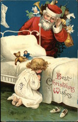 Best Christmas Wishes with Santa Listening to Child Praying