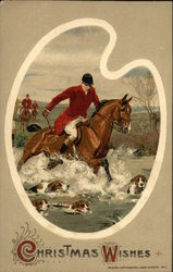 Man Riding Horse, Hunting Dogs