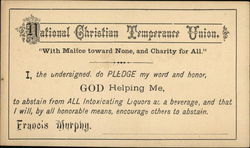NCTU National Christian Temperance Association Pledge