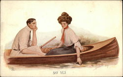 Say Yes - Man and Woman in Rowboat