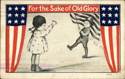 For the Sake of Old Glory - Patriotic Boy and Girl