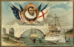 Henry Hudson Memorial Bridge to be Erected and Inset of Henry Hudson
