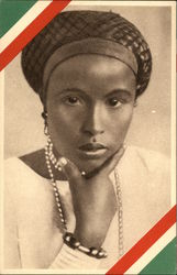 Ethiopian Woman with Pearls Portrait