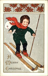 Young Boy on Skis