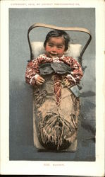 Native American Baby in a Basket