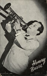 Henry Busse Playing Trumpet - Black & White Photograph
