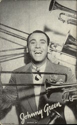 Musician Johnny Green Surrounded by Trombones