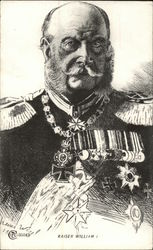 Drawing of Kaiser William I Portrait with Decorations