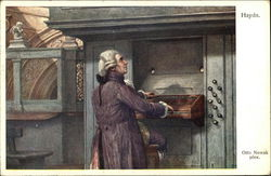 Haydn playing an Organ