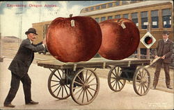 Two Men Shipping Giant Apples