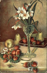 Still Life with Flowers, Strawberries, Pears