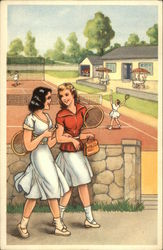 Women at Tennis Courts