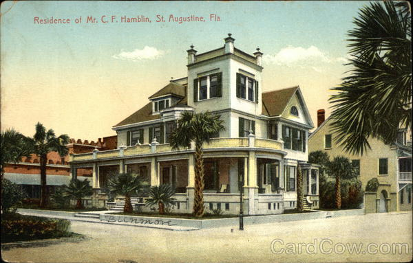 Residence of Mr. C.F. Hamblin St. Augustine Florida