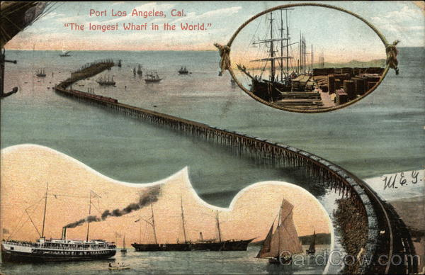 The longest Wharf in the World Port Los Angeles California