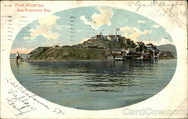 Water View of Fort Alcatraz San Francisco California