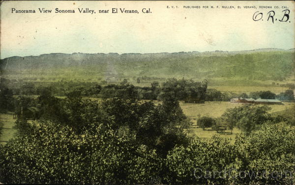 Panorama View of Sonoma Valley El Verano California