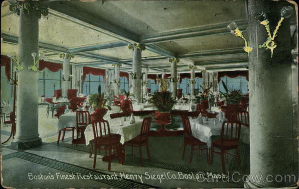 Boston's Finest Restaurant, Henry Stegel Company Massachusetts