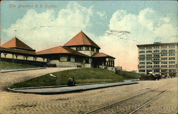 The Brockton RR Station Massachusetts