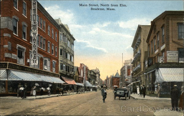 Main Street, North from Elm Brockton Massachusetts
