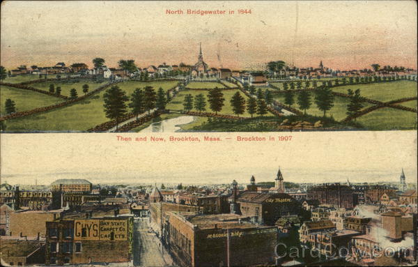 Then and Now, Brockton, Mass. Massachusetts