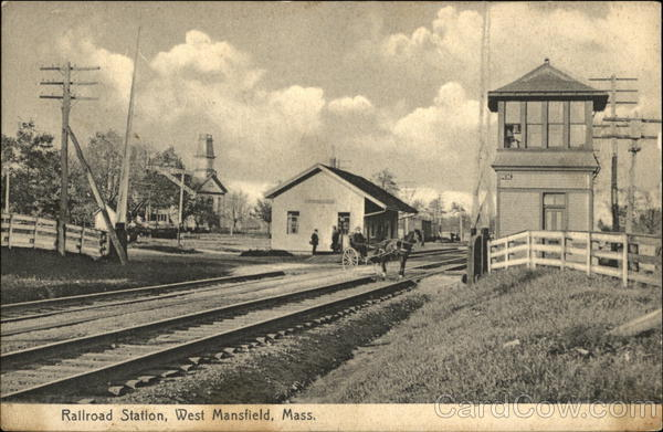 Railroad Station West Mansfield Massachusetts