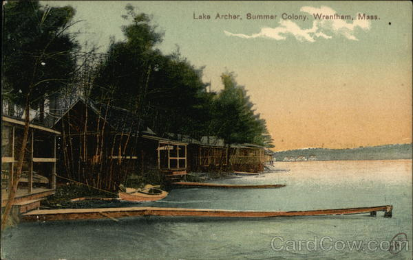 Lake Archer, Summer Colony Wrentham Massachusetts
