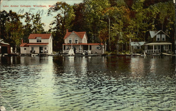 Lake Archer cottages on the Water Wrentham Massachusetts