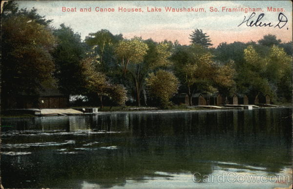 Boat and Canoe Houses, Lake Waushakum Framingham Massachusetts