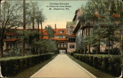 Carriage Entrance to Ponce de Leon Hotel