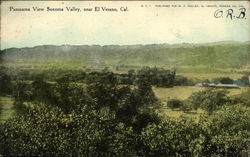 Panorama View of Sonoma Valley