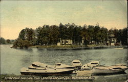 Harris Pond, East Side, Boat Landing and Cottages