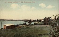 "Looking West from ""Ye Olde Buttonwoods"" House Postcard"