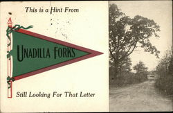 This is a Hint from Unadilla Forks Still Looking for That Letter