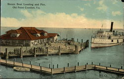 Steam Boat Landing and Pier Postcard