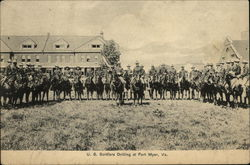 US Soldiers Drilling on Horseback