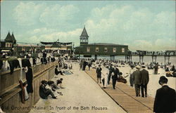 Crowd in front of the Bath Houses