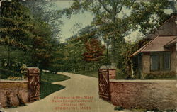Entrance to Mrs. Mary Baker Eddy's Residence, Chestnut Hill