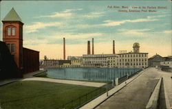 View in the Factory District, showing American Print Works