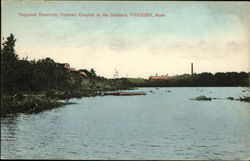Neponset Reservoir, Foxboro Hospital in the Distance