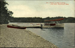 "Lake Pearl - Steamer ""Pearl"" at the Landing"