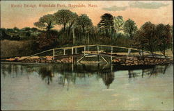 Rustic Bridge, Hopedale Park Postcard