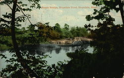Rustic Bridge, Hopedale Pond Postcard
