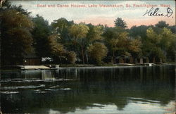 Boat and Canoe Houses, Lake Waushakum