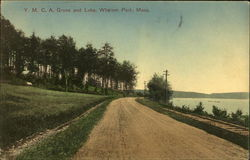 Y.M.C.A. Grove and Lake, Whalom Park Postcard