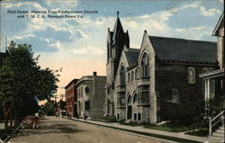 32nd Street showing First Presbyterian Church and Y.M.C.A. Postcard