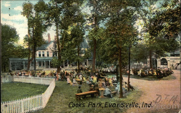 Large Gathering at Cook's Park Evansville Indiana