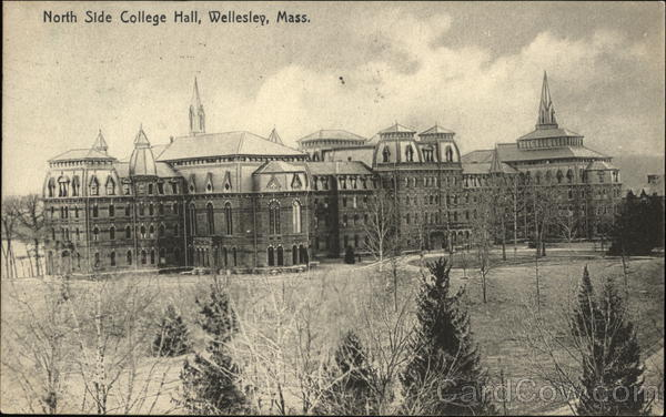 North Side College Hall Wellesley Massachusetts