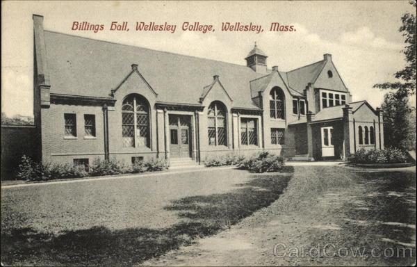 Billings Hall, Wellesley College Massachusetts