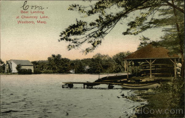 Boat Landing at Chauncey Lake Westboro Massachusetts